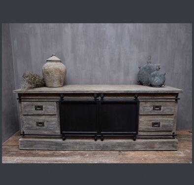 Landelijk tv meubel grijs