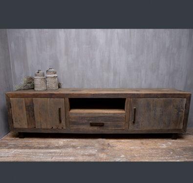 Landelijk tv meubel hout met ijzeren pootjes